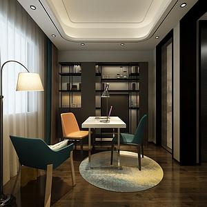港式轻奢风格书房装修设计