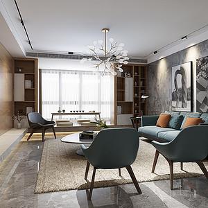 亮丽家园 现代简约装修效果图 平层 180平米