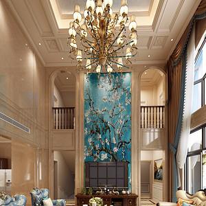 梅溪香山800平新古典风别墅客厅