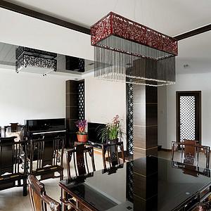 运胜美之国-中式简约-餐厅实景图