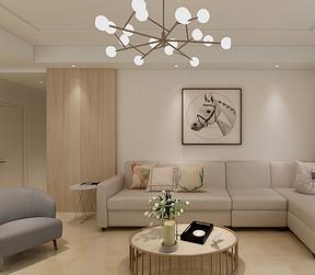 三居室-现代简约-客厅