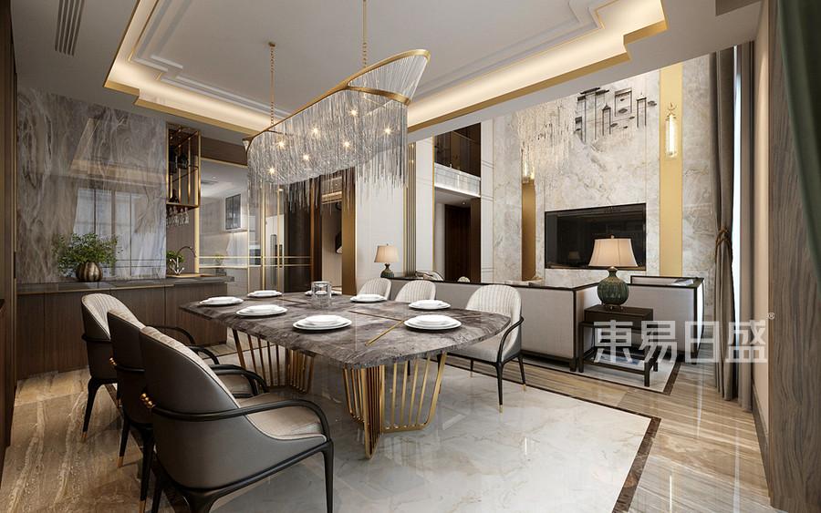 輕奢中式風格餐廳裝修設計
