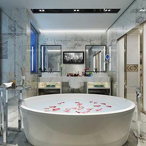现代简约卫生装修效果图 别墅装饰设计