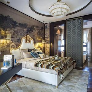 万科金域-现代简约-卧室装修效果图