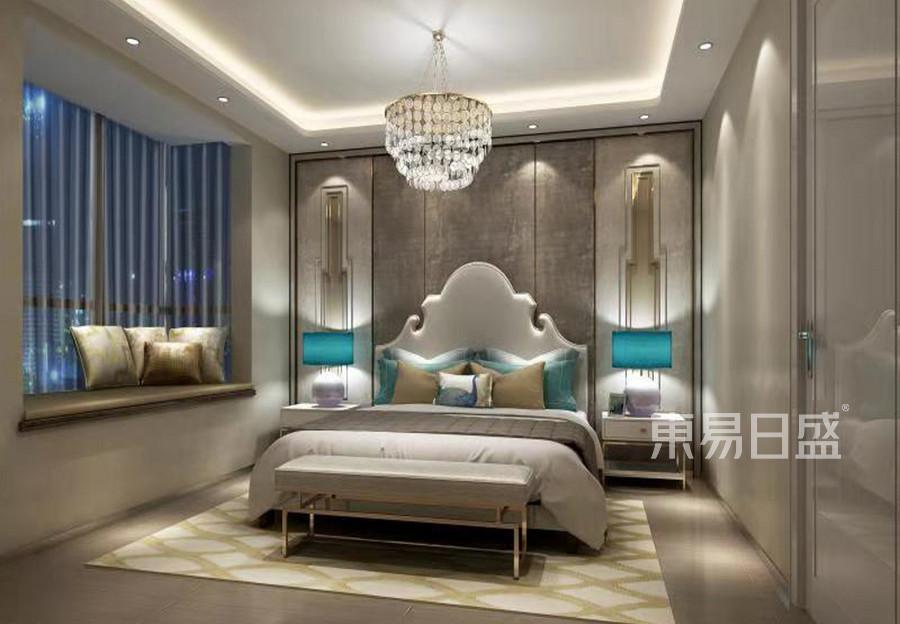 轻奢美式风格卧室装修效果图