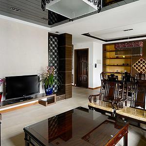 运胜美之国-中式简约-客厅实景图