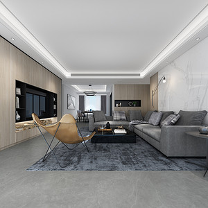 香山美墅果岭-165平米装修户型图-现代风格装饰设计方案