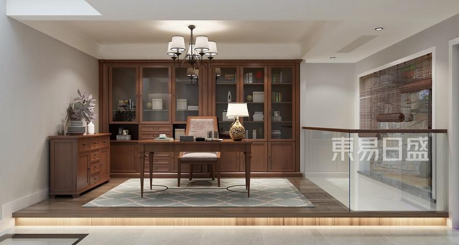 上海海上院子280平美式简约夹层多功能房