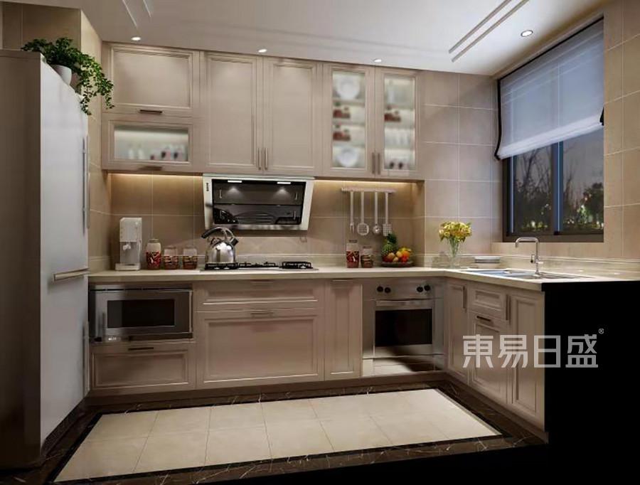 轻奢美式风格厨房装修效果图