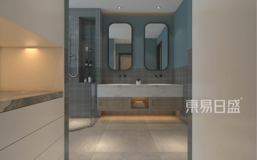 四居室-现代简约-二层主卫-效果图