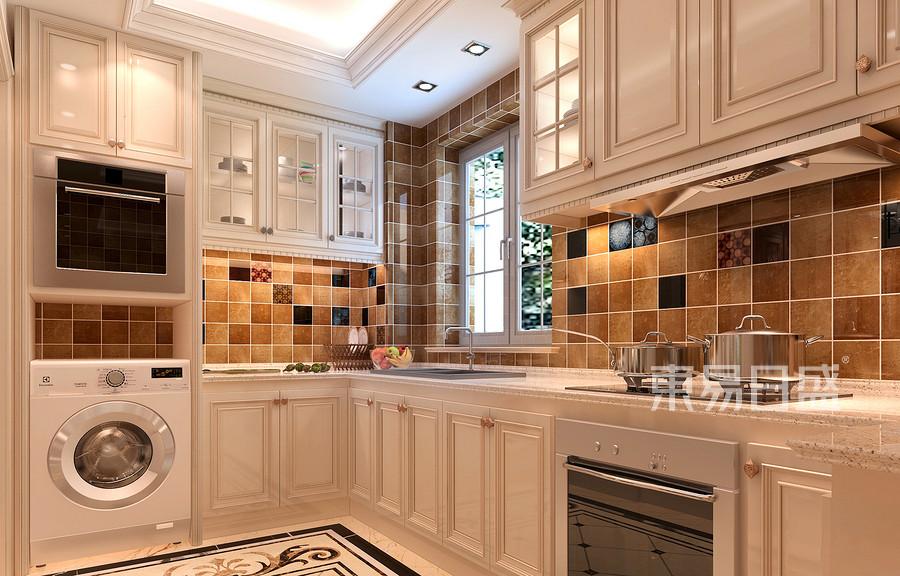 现代简美风格厨房装修效果图效果图_2019装修案例图片