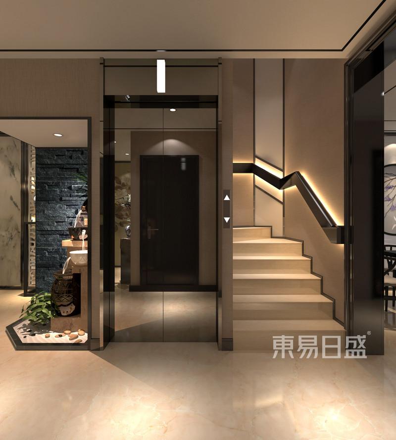 新中式 - 仁爱濠景新中式楼梯间装修效果图