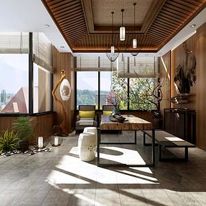 龙湖480平新中式别墅露台