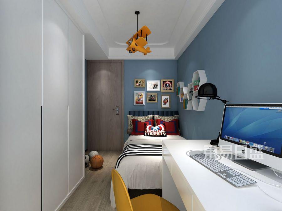 壹成中心-新中式风格案例-儿童房装修效果图