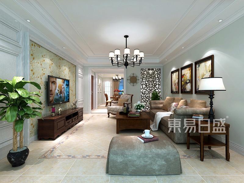客厅隐形门的设计使整个空间协调与效果图_装修效果图