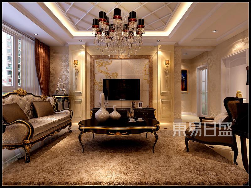 欧式古典 - 客厅2欧式装修效果图 三室两厅一厨两