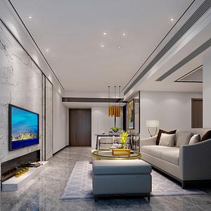 深业东岭 现代简约风格 64平米两室一厅案例
