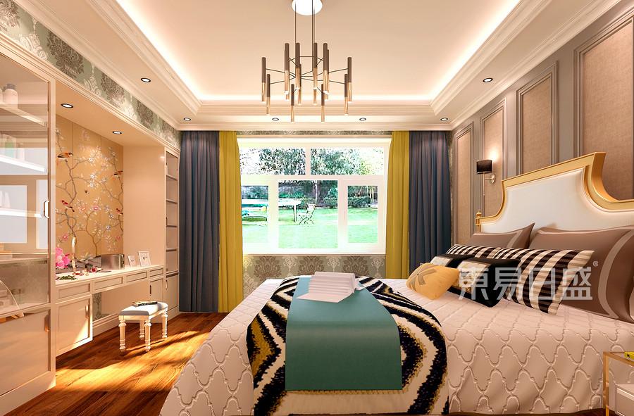 现代简美风格卧室装修效果图