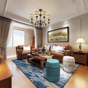 小美式-客厅沙发背景墙