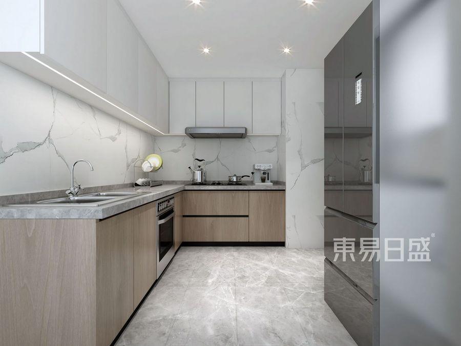 壹成中心-新中式风格案例-厨房装修效果图