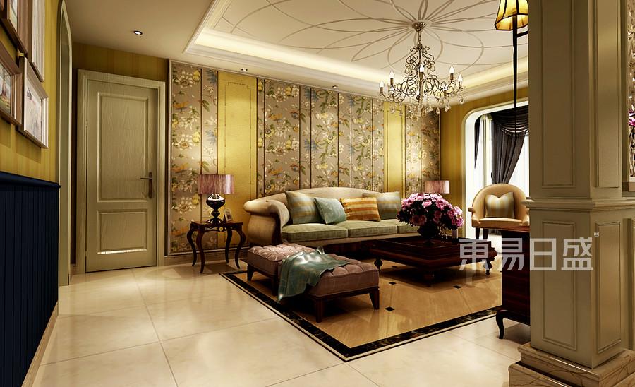 巩义凤凰城美式舒适主义客厅