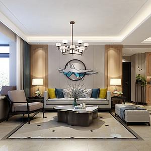 现代中式风格客厅