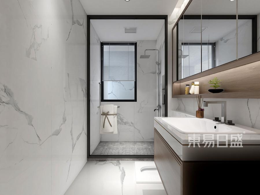 壹成中心-新中式风格案例-卫生间装修效果图
