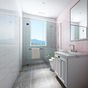 北斗花园现代风格女孩房卫生间装修效果图