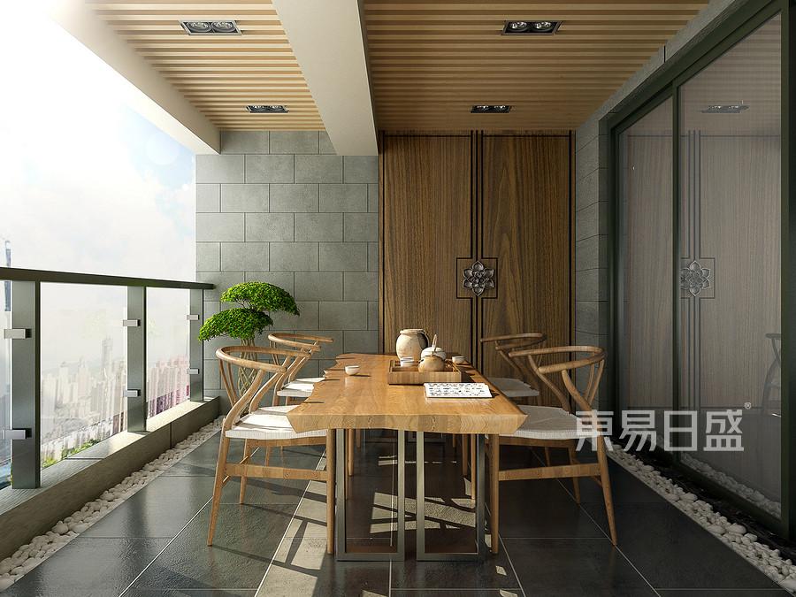 207㎡跃层新中式风格阳台装修效果图