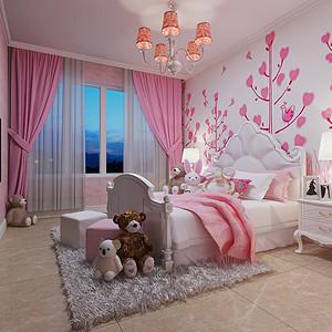粉色白色相间上清爽自然