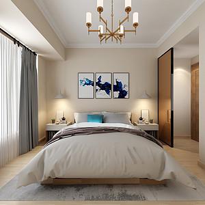 丰泰观山碧水三房现代简约卧室效果图