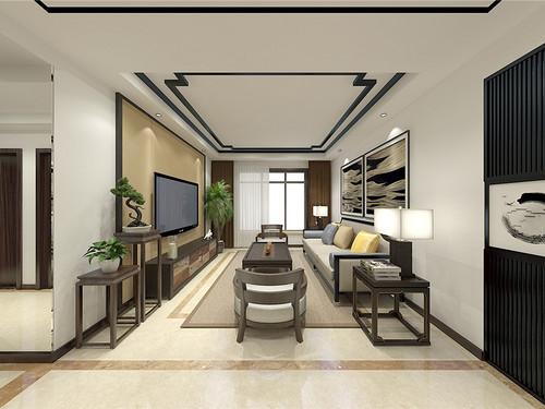 融创中心-新中式风格-110平米装修设计理念