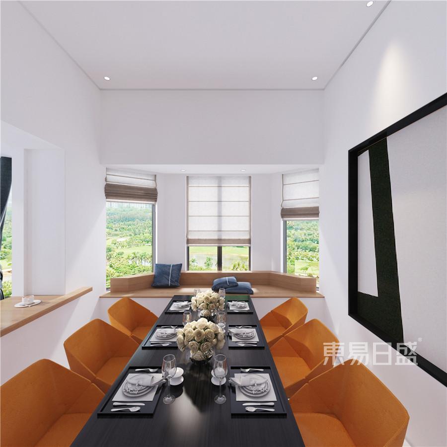 紫金华府248平跃层后现代极简装修效果图-餐厅