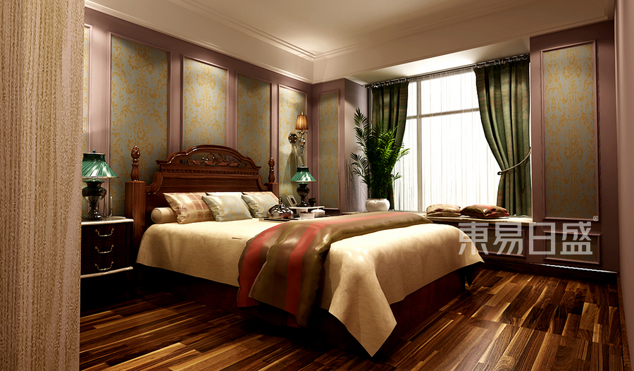 巩义凤凰城美式舒适主义卧室
