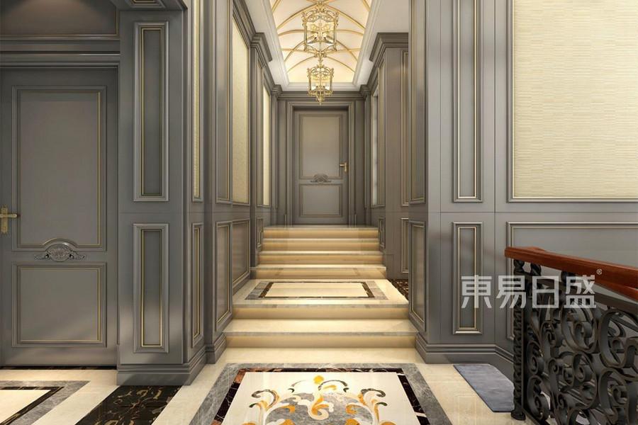 700㎡别墅欧式奢华风格楼梯间效果图