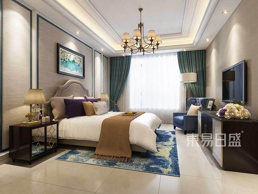 卧室色调柔和,温馨,整体色彩