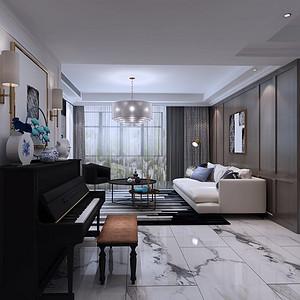 锦峰大厦110平轻奢风格效果图