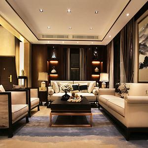 苏州美澜城 新中式客厅装修效果图