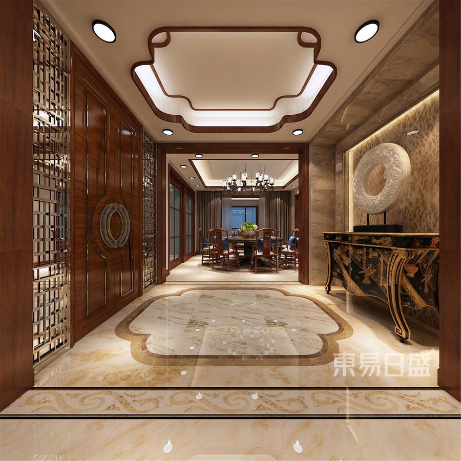 350平米浭阳华府中式风格门厅装修效果图