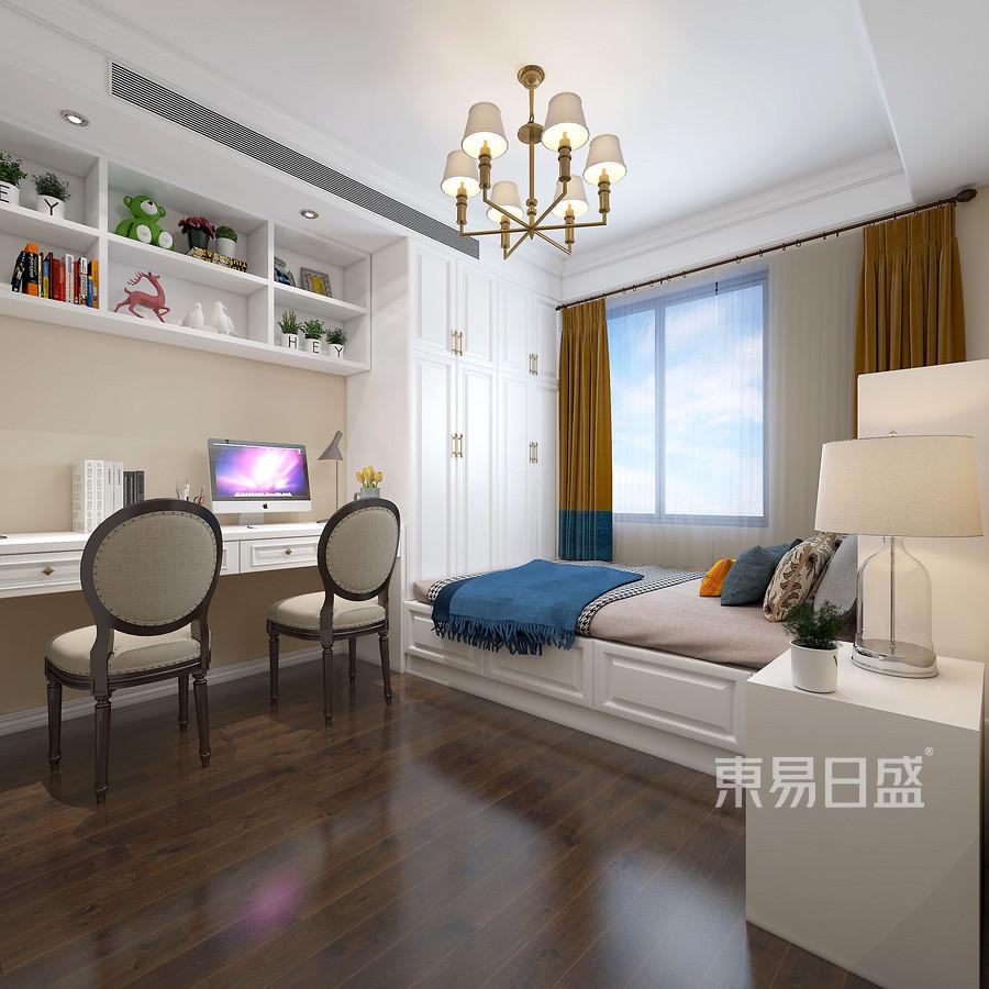 禹洲中央城现代轻奢混搭风格儿童房装修案例效果图