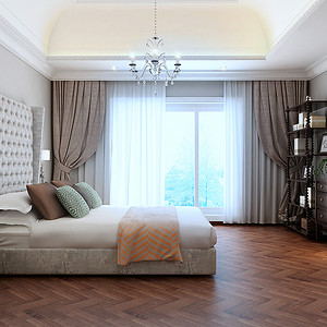 欧式卧室尊重私密性又不失大气通透