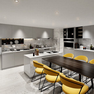 博雅园-餐厅厨房装修效果图