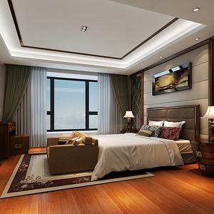 中式风格 卧室装修效果图 别墅装饰
