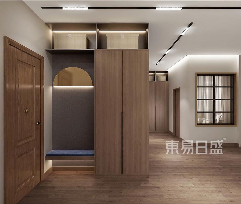 门厅鞋帽柜满足装饰与储藏的功能效果图_装修效果图