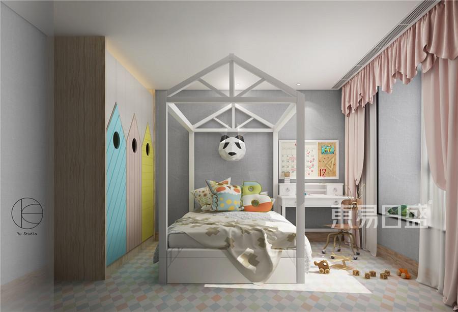 上海瑞虹新城高层公寓160㎡现代简约装修效果图