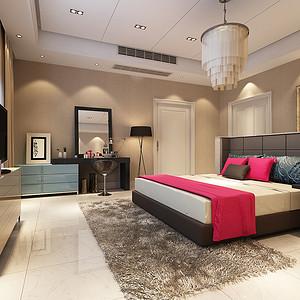 现代简约 卧室装修效果图 别墅装饰设