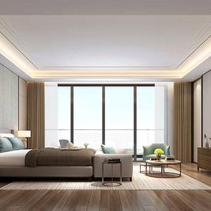 香山美墅果岭-新中式-卧室装修效果图