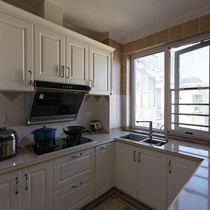 云盘花园260平新古典风格复式厨房