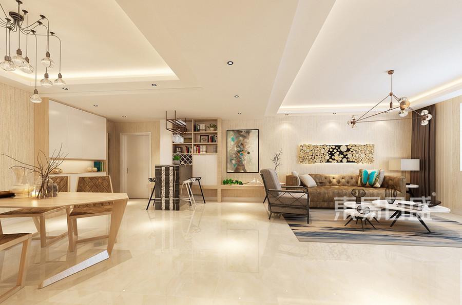 客厅北欧极简三室二厅装修效果图