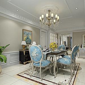 紫金长安 法式风格 餐厅装饰
